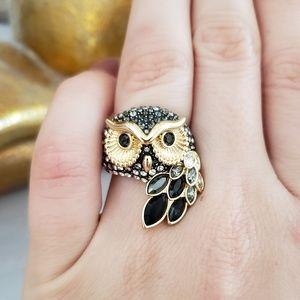 Swarovski Owl ring